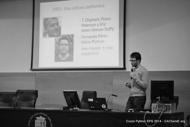 Presentación de Python en la Universidad de Alicante