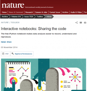 Nature - Notebooks interactivos: compartiendo el código
